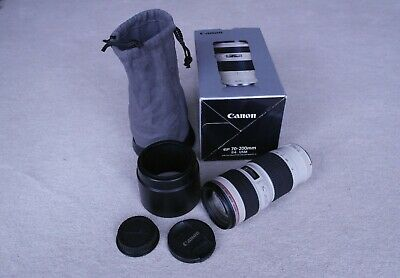 CANON EF L USM 70-200mm F4 TELEPHOTO LENS EXCELLENT USED CONDITION SEE PICS