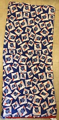 Vintage PBR Pabst Blue Ribbon Sleeping Bag Blanket EUC