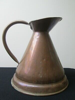Large Copper Jug Full Of Rustic Charm Great Decorative Item Or Vase