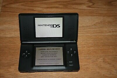 Nintendo DS Lite Handheld Console - Onyx Black tested working