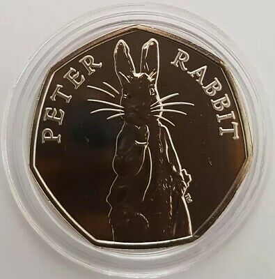 2019 Royal Mint Peter Rabbit Fifty Pence 50p Coin Brilliant Uncirculated BUNC UK