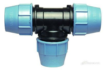 Tee 90° Compression Fitting for Blue Water/MDPE/Alkathene Pipe