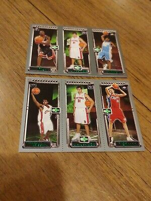 Lebron James 2003-04 Topps Matrix Rookies With Wade& Melo