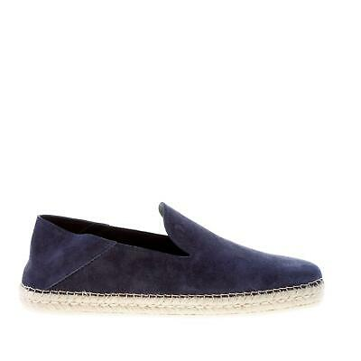 TOD'S men shoes Blue galassia suede slip on espadrillas style reclining heel