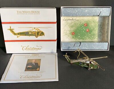 2019 White House Historical Assoc Christmas Ornament VCH 34 Helicopter FREE SHIP