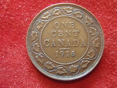 Canada Large Cent - 1916 - Nice Condition - 104 Years Old - World War I - Look !
