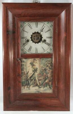 Antique Gilbert & Co. American Mahogany Case Ogee Mantle Shelf Clock
