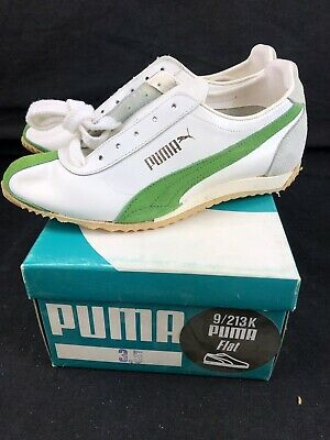 Vintage Puma Youth Shoes Flat Running Deadstock Sz 3.5 70s 9/213K Leather