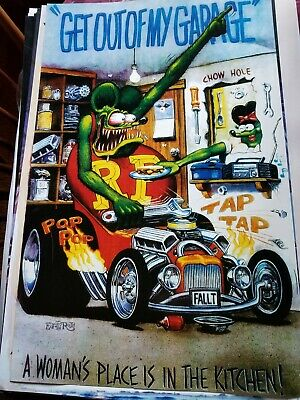 """Rat Fink Art by Ed """"Big Daddy"""" Roth Boss Mustang Vintage Poster 24 x 36"""