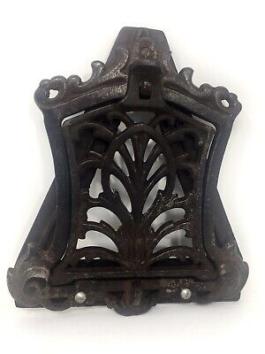 Vintage Cast Iron Open-Latched Door Knocker/Mail Slot/Peep Hole