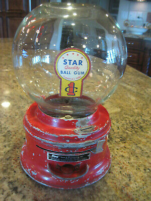 """Early """"Cup Front"""" Ford Gum Machine - Working & Vends 1 Gum Ball For A Penny!"""