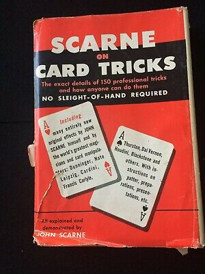 Scarne on Card Tricks by John Scarne good condition magic book 1969 edition
