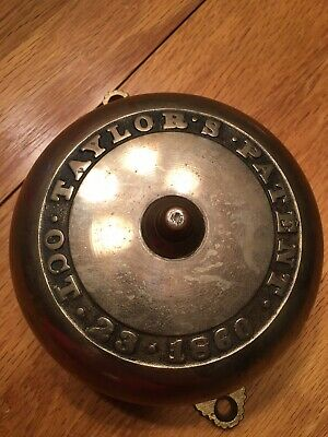 Antique Taylor's Brass Victorian Bell Payent 1860