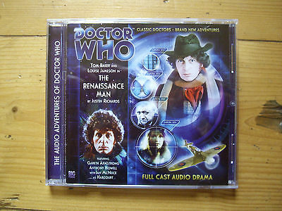 Doctor Who The Renaissance Man, 2012 Big Finish audio book CD
