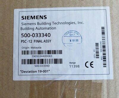 Siemens Psc-12 Power Supply- Xls Fire Alarm 500-033340 - New / Sealed !!!!!