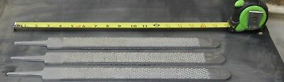 3 FARRIER HORSE SHOE FILES,  RASPS ,GREAT FOR  KNIFEMAKING or WOODWORKING