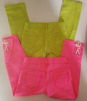 NWT Gymboree Girls Neon Green Jeans Pink Capri Lot of 2 items - Size 6 SLIM New
