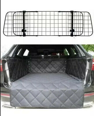 Deluxe Mesh Dog Guard + Quilted Boot Liner For Audi Q7 Model 4M 2015-2020