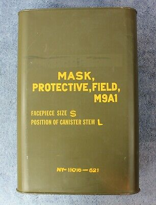 NEW OLD STOCK US Military M9A1 Field Protective Gas Mask Size Small Sealed