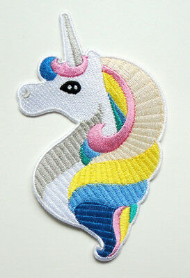 Colorful Unicorn Head Myth Tale Jeans Jackets Applique Embroidered Iron on Patch