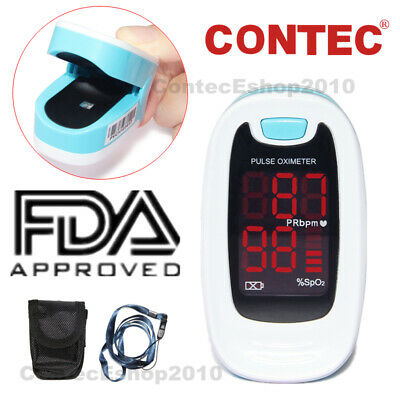 CONTEC Finger Pulse Oximeter Fingertip SPO2 PR Blood Oxygen Monitor LED CMS50M1