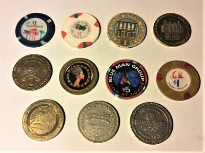 Lot of Eleven Casino Chips & Slot Tokens