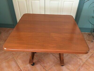 Gateleg Timber Extension Table with castors