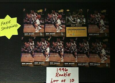 1996 All Sport PPF Ray Allen Rookie Lot of 10  #12 Free Shipping