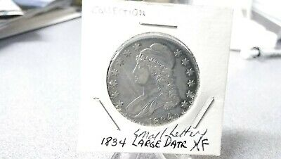 1834 Silver Capped Bust Half Dollar Very Nice Details high Grade, see photos