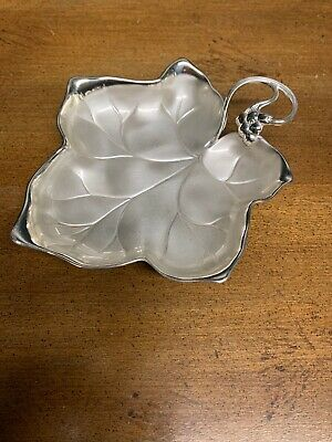 IKORA Silverplate Leaf Trinket Dish WMF Tray Footed Small Made in Germany