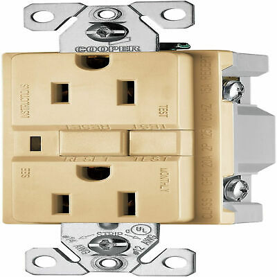 Cooper Vgf15V 15A 125V Duplex Ground Fault Circuit Interrupter Gfci 10 Pack