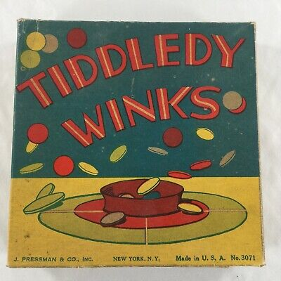 Tiddledy Winks-J Pressman & Co New York, NY Made in USA No. 3071 Original Box