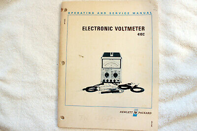 HP410C Electronic Voltmeter Operating & Service Manual