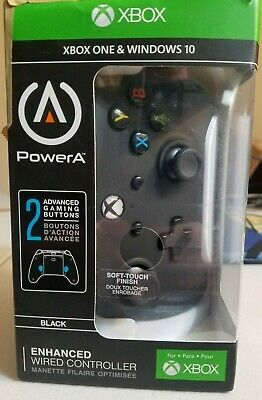 PowerA Enhanced Wired Controller for Xbox One - Black FREE SHIPPING