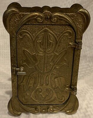Rare Art Deco Craftsman Tudor Style Peabody & Acker Inc. View & Door Knocker
