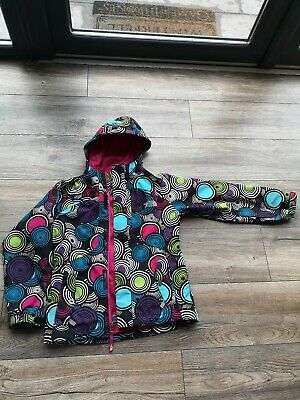GIRLS THE NORTH FACE multi coloured COAT JACKET AGE 7/8 YEARS
