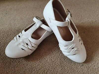 Matalan Girls White Party Shoes Size 8