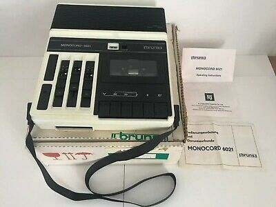 1980s Cassette Tape Player Recorder - Bruns Monocord 6021 - Working