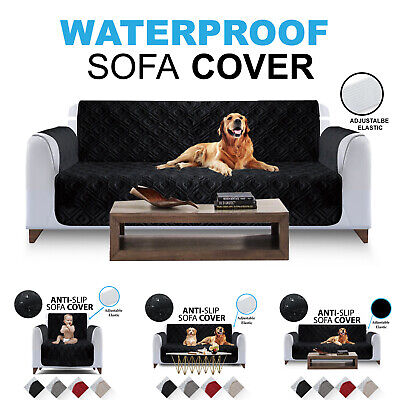 Quilted Sofa Covers Waterproof Anti Slip Cover Pet Furniture Protector Throw