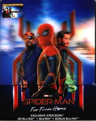 NEW Spider-Man Far From Home 3D w/ Lenticular Magnet Blu-ray Steelbook FilmArena