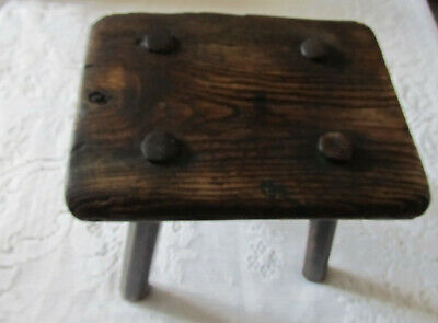 18th century antique wooden milking stool - probably around 1750