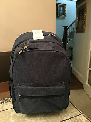 M&S Home Practical Cool bag Picnic Backpack 4 People Navy Mix Marks & Spencer