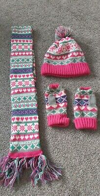 Hat, Scarf, Gloves Set Age 7-10