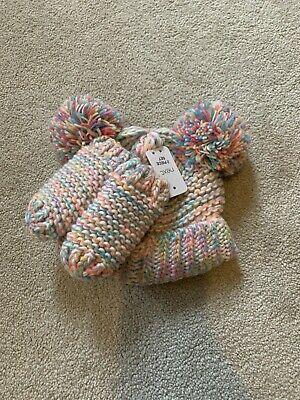 BNWT girls Next hat & mitten set 1-2 years