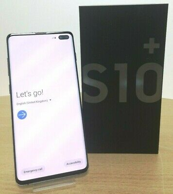 Samsung Galaxy S10+ Plus - Dual Sim - 128GB - Black - Unlocked - SM-G975