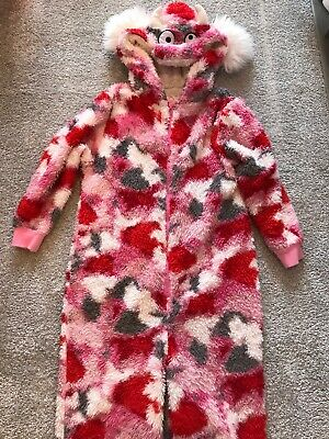 Childrens All In One Fluffy Sleep suit/pyjamas Age 7-8 Next
