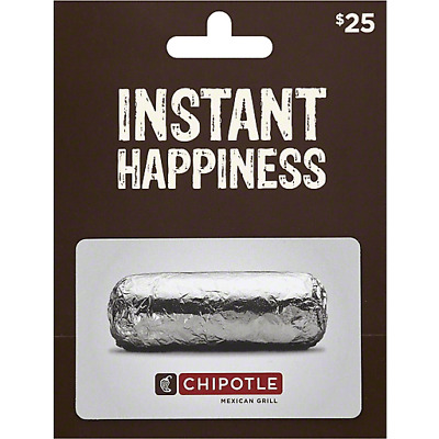 Chipotle Gift Card $25 - New