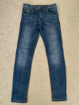 Boys River Island Blue Denim Skinny Jeans Trousers Age 11 - WORN ONCE!