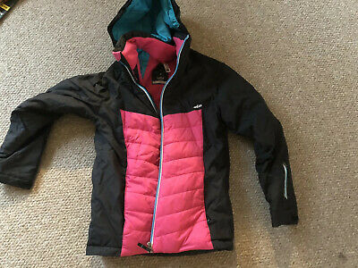 Black/Pink Girls Ski Jacket Age 12 Decathlon 2018 (Wedze) Height 143-150 cm