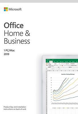 Microsoft Office Home and Student 2019 | 1 person, Windows 10 PC/Mac Key Card, E